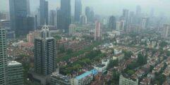 Vista aérea da cidade de Jinan