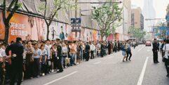 Filas para visitar o The Bund em Xangai