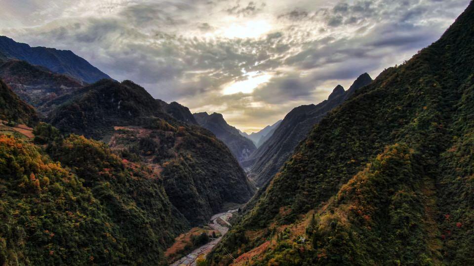 O que fazer em Xian? Paisagem de cadeia de montanhas na China