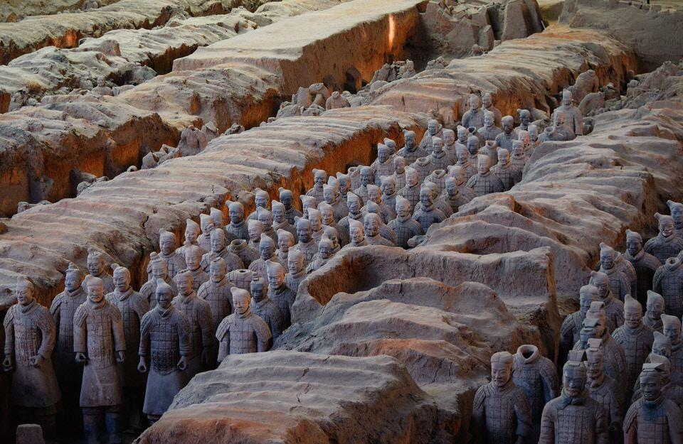 O que fazer em Xian? Escultura de exército de soldados chineses